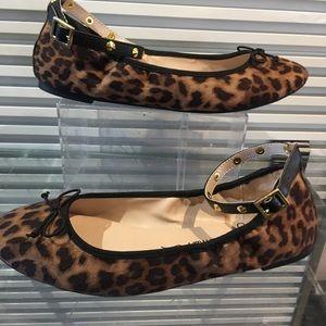Leopard  ballet flats w/ removable ankle strap